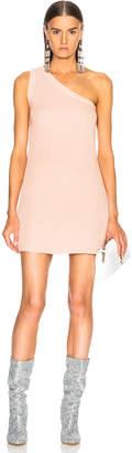 Unravel Waffle Knit One Shoulder Dress