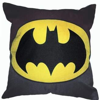 Lillowz Batman Superhero Cotton Throw Pillow