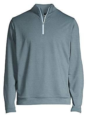 Peter Millar Men's Crown Sport Perth Loop Melange Quarter Zip Sweatshirt