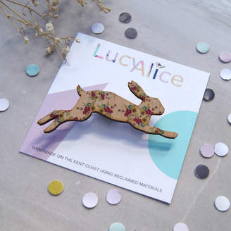 Lucy Alice Designs Floral Hare Brooch