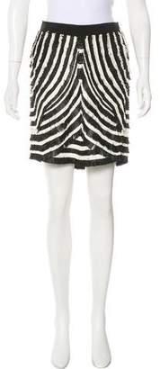 Gucci Leather Fringe-Trimmed Skirt