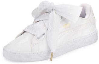 Puma Basket Heart Patent Sneaker $85 thestylecure.com