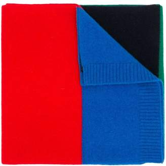 DSQUARED2 colour block knitted scarf