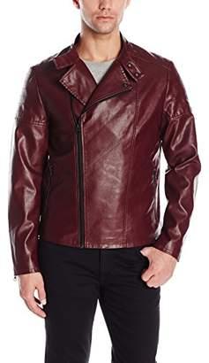 Kenneth Cole Reaction Men's Pleather Moto Jacket