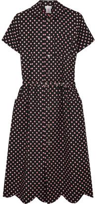 Comme des Garçons GIRL - Belted Polka-dot Cotton Dress - Black $940 thestylecure.com