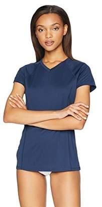 Amazon Essentials Women's Short-Sleeve Quick-Dry UPF50 Swim Tee