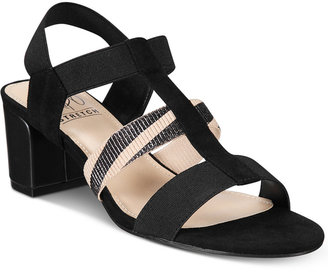 Impo Emery Stretch Block-Heel Sandals $55 thestylecure.com