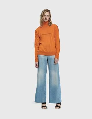 MM6 MAISON MARGIELA Lightweight Sweater in Orange
