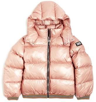 Burberry Girls' Josiah Hooded Down Puffer Jacket - Big Kid