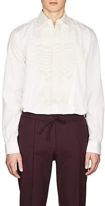 Givenchy Men's Sequined Cotton Poplin Tuxedo Shirt