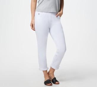 Factory Quacker Regular DreamJeannes Pull-On Crop Pants w/ Fringe