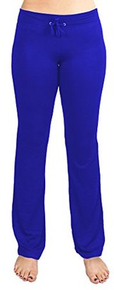 Crown Sporting Goods Soft & Comfy Yoga Pants, 95% Cotton/5% Spandex, Blue L