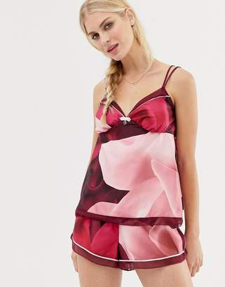 Ted Baker Porcelain Printed Rose Cami Pajama Top