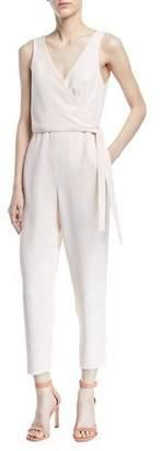 Club Monaco Gressah Sleeveless Tie-Waist Straight-Leg Jumpsuit