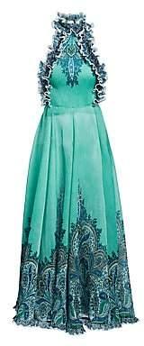 Zimmermann Women's Moncur Pleated Open-Back Gown