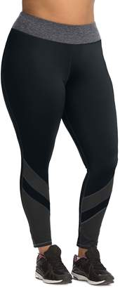Just My Size Plus Size Pieced Mesh Active Legging