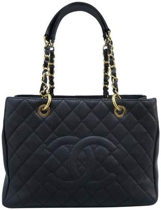 Chanel Shopping Tote Grand (Gst) Black Caviar Shoulder Bag
