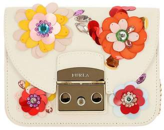 Furla Mini Bag Clivia Metropolis Mini Bag In Leather With All Over Floral Applications