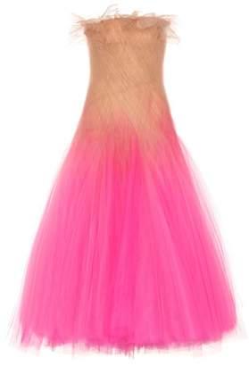 Oscar de la Renta Strapless tulle gown