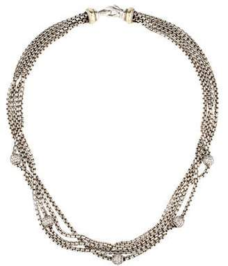 David Yurman Diamond Multi Strand Collar Necklace