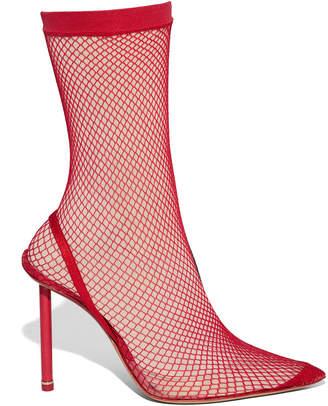 Alexander Wang Caden Fishnet Ankle Boots