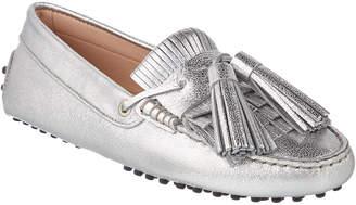 Tod's Gommino Tassel Metallic Leather Mocassin