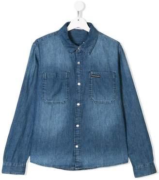 Calvin Klein Kids TEEN long sleeve denim shirt