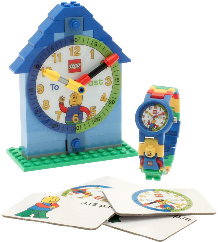 Lego Kids Time Teacher Watch with Blue Construction Clock & Activity Cards