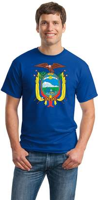 Co Ann Arbor T-shirt ECUADORAN COAT OF ARMS Unisex T-shirt / Escudo de Ecuador Flag Camiseta