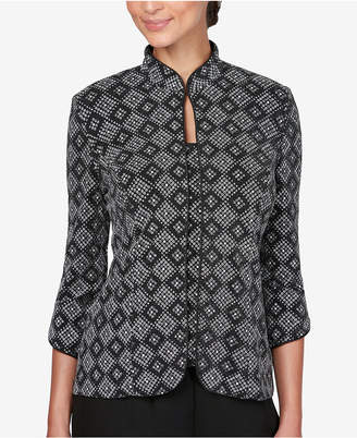 Alex Evenings Printed Glitter Jacket & Top Set