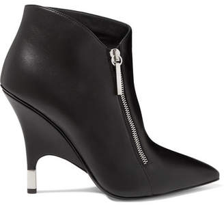 Giuseppe Zanotti Leather Ankle Boots - Black
