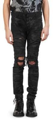 Balmain Slim-Fit Camo Pants