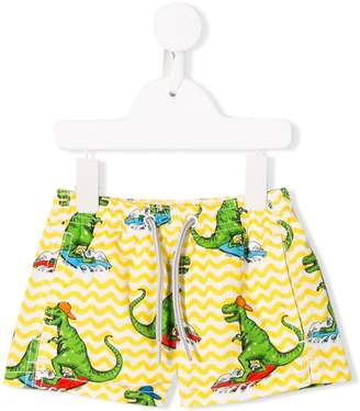 MC2 Saint Barth Kids Dino print swim shorts