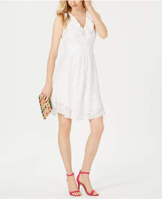 Julia Jordan Ruffle-Trim A-Line Dress