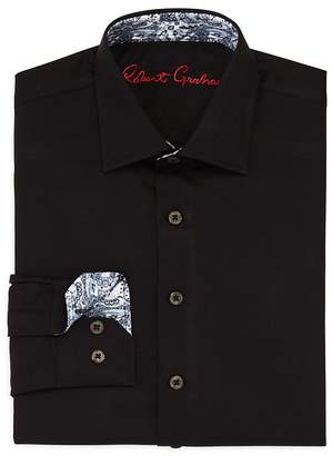 Robert Graham Boys' Joy Neat Texture Dress Shirt - Big Kid $79.50 thestylecure.com