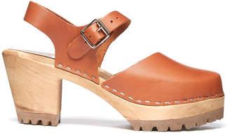 Mia Abba Leather Wood Clog