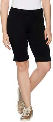Laurie Felt Silky Denim Black Bermuda Pull-On Shorts
