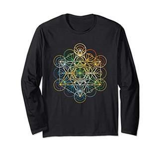 Sacred Geometry Long Sleeve T-Shirt Chakra Colors