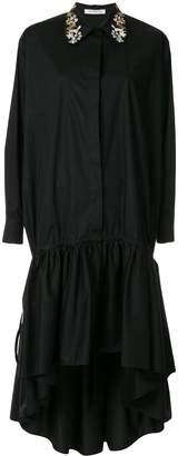 VIVETTA embroidered-collar shirt dress