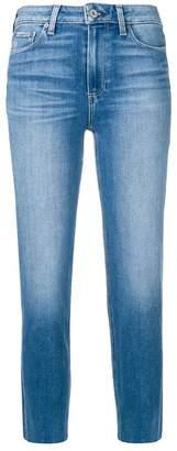 Paige raw hem cropped jeans