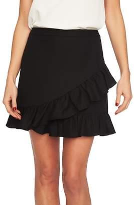 1 STATE 1.STATE Ruffle Miniskirt