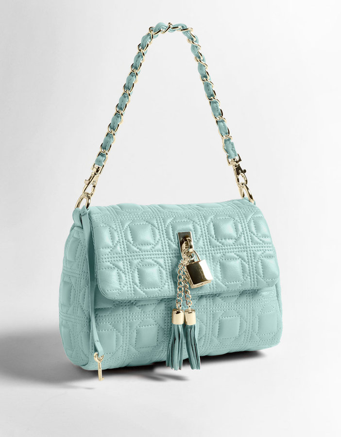 PARADOX Quilted Leather Lock Tassel Mini Bag