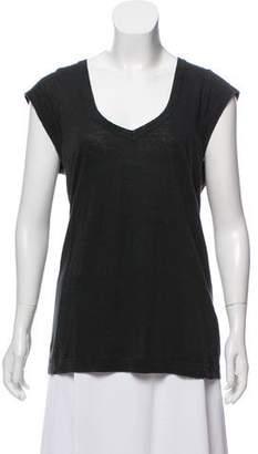 Etoile Isabel Marant Linen V-Neck Top