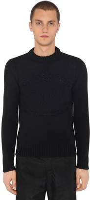 Prada Embroidered Wool & Cashmere Knit Sweater
