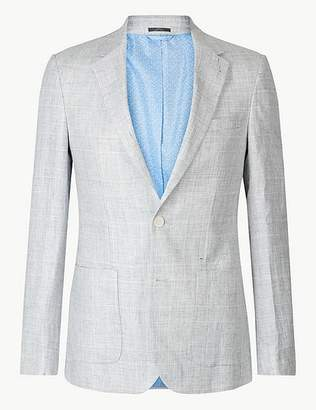Marks and Spencer Big & Tall Checked Slim Fit Jacket