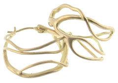 Annette Ferdinandsen Baby Coral Branch Hoops in 18kt Gold