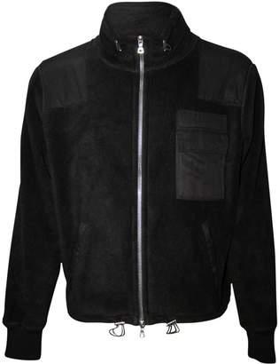 Amiri polar fleece commando patch jacket black