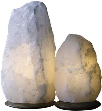 So Well Fair Trade Rare White Himalayan Crystal Salt Lamps (Set of 2)