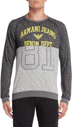 Armani Jeans Grey Regular Fit Sweatshirt