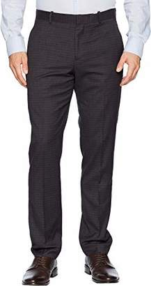 Perry Ellis Men's Slim Fit Washable Plaid Suit Pant
